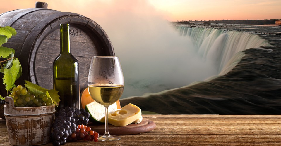 wine and falls